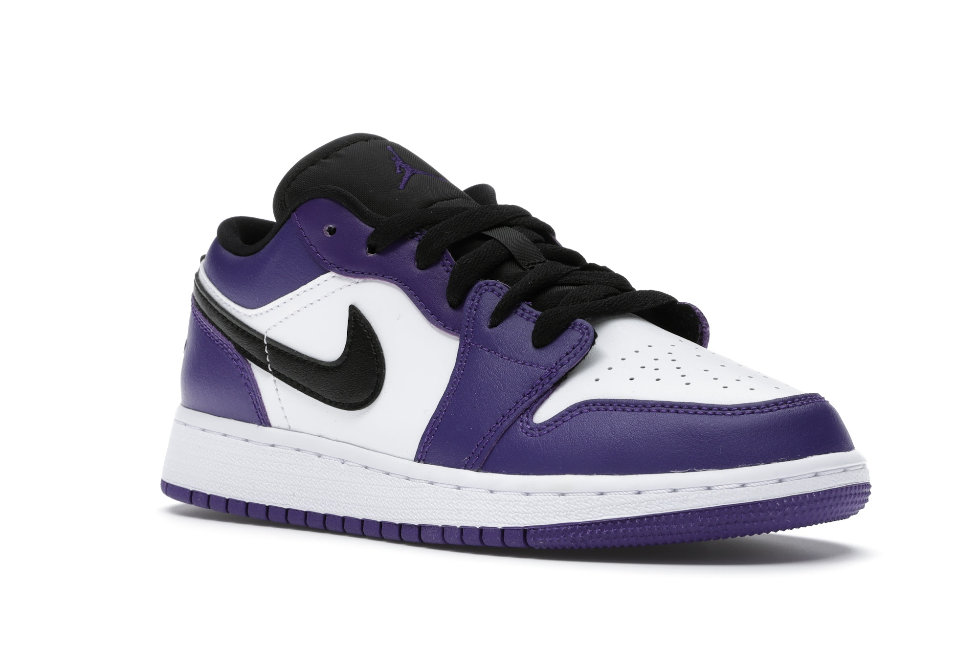 Jordan 1 Low Court Purple White (GS) - 553560-500