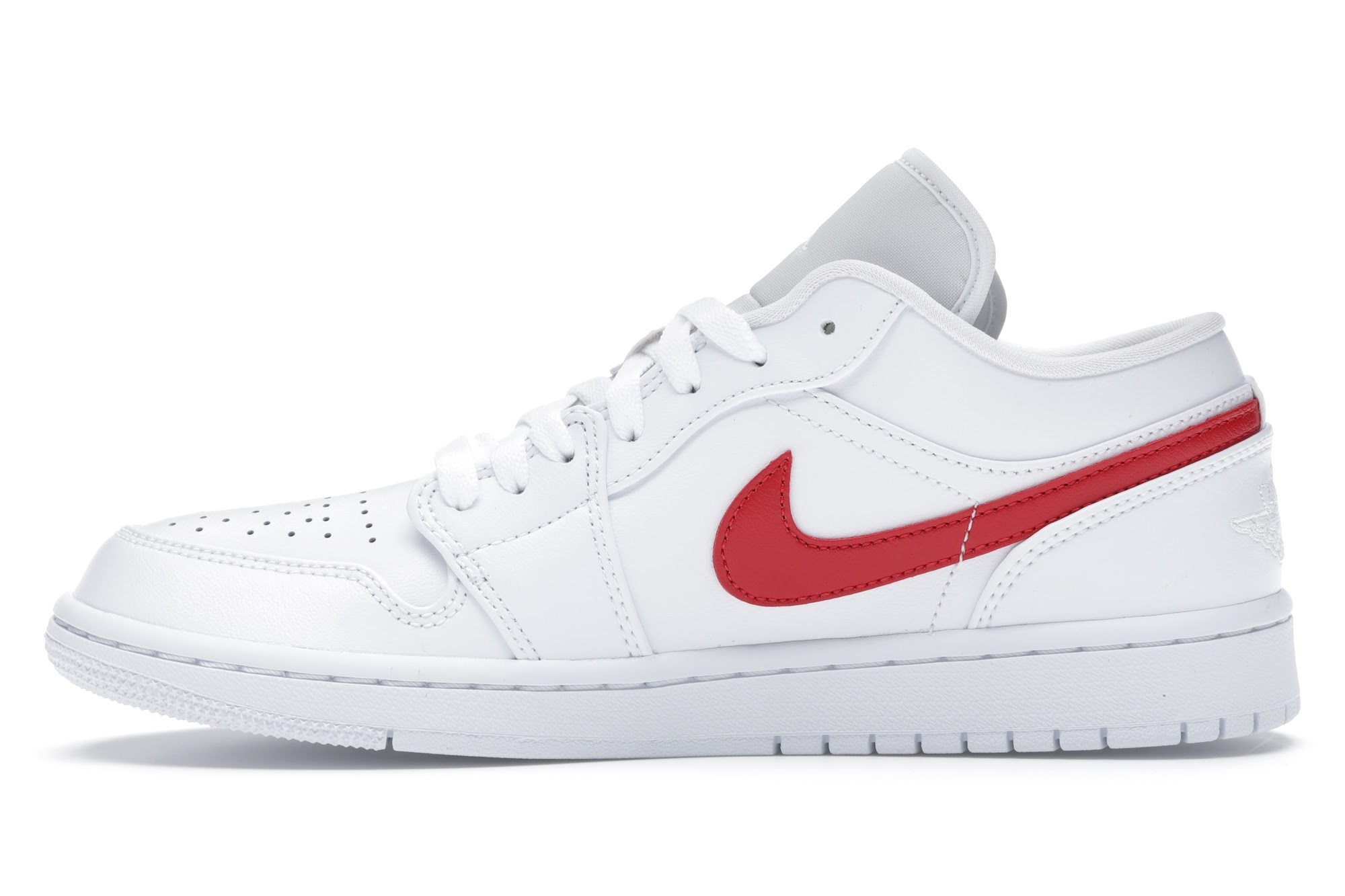 Jordan 1 Low White University Red (W)