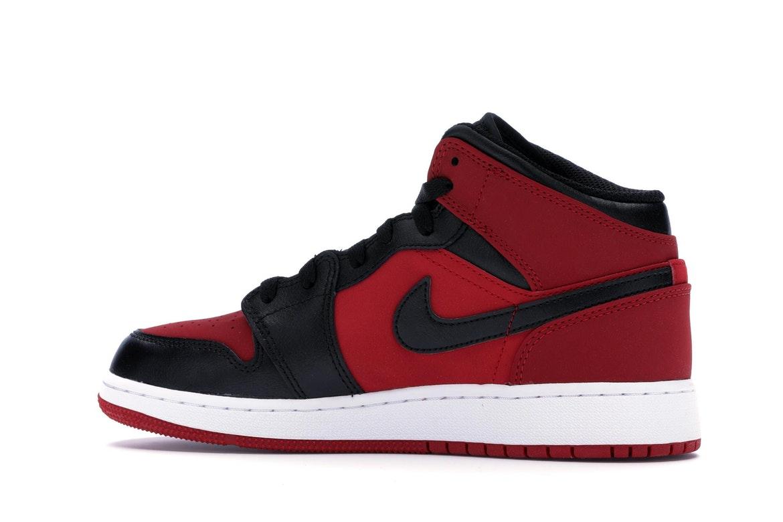 Jordan 1 Mid Gym Red Black (GS)