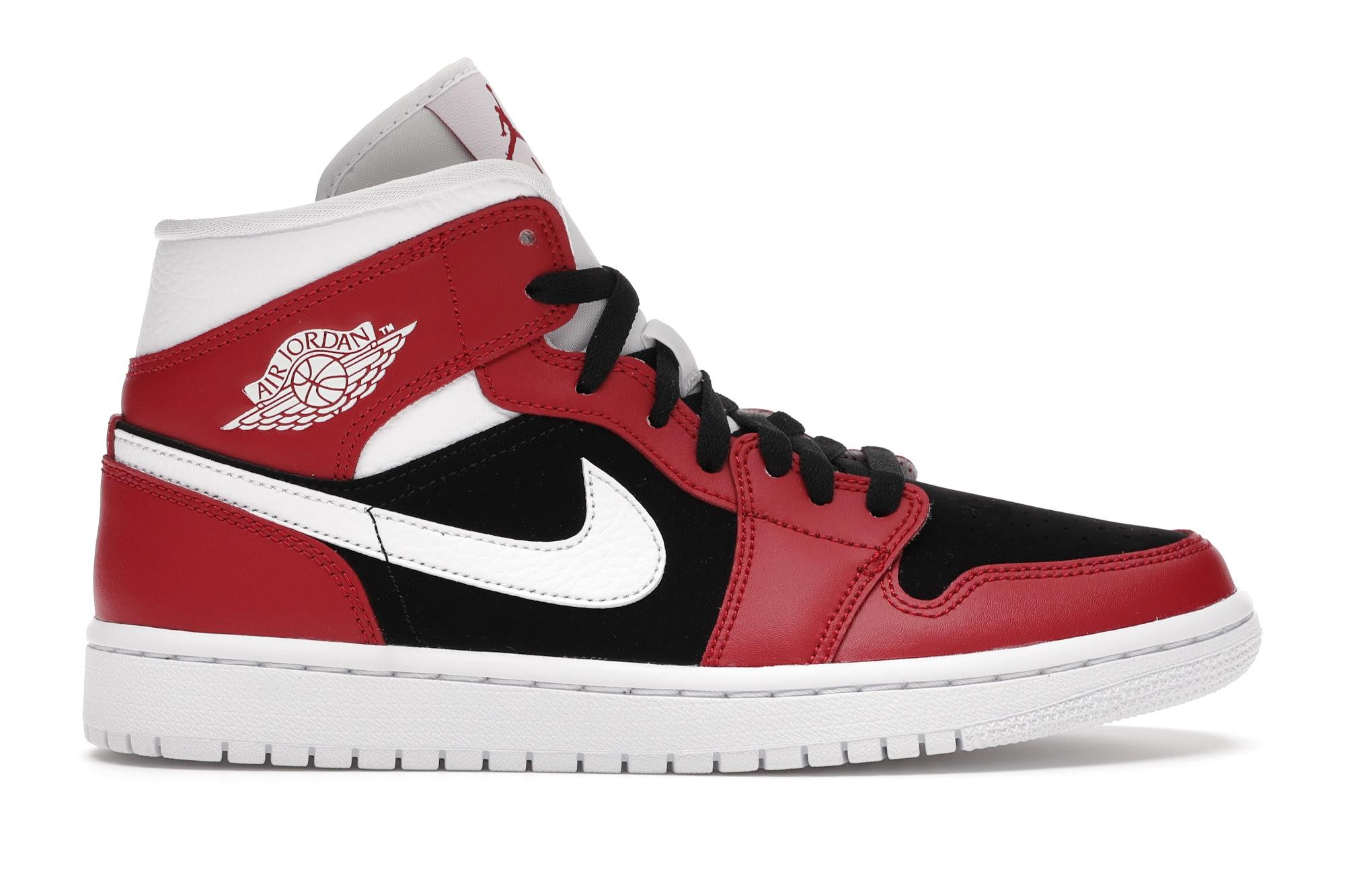 Jordan 1 Mid Gym Red Black (W) - BQ6472-601