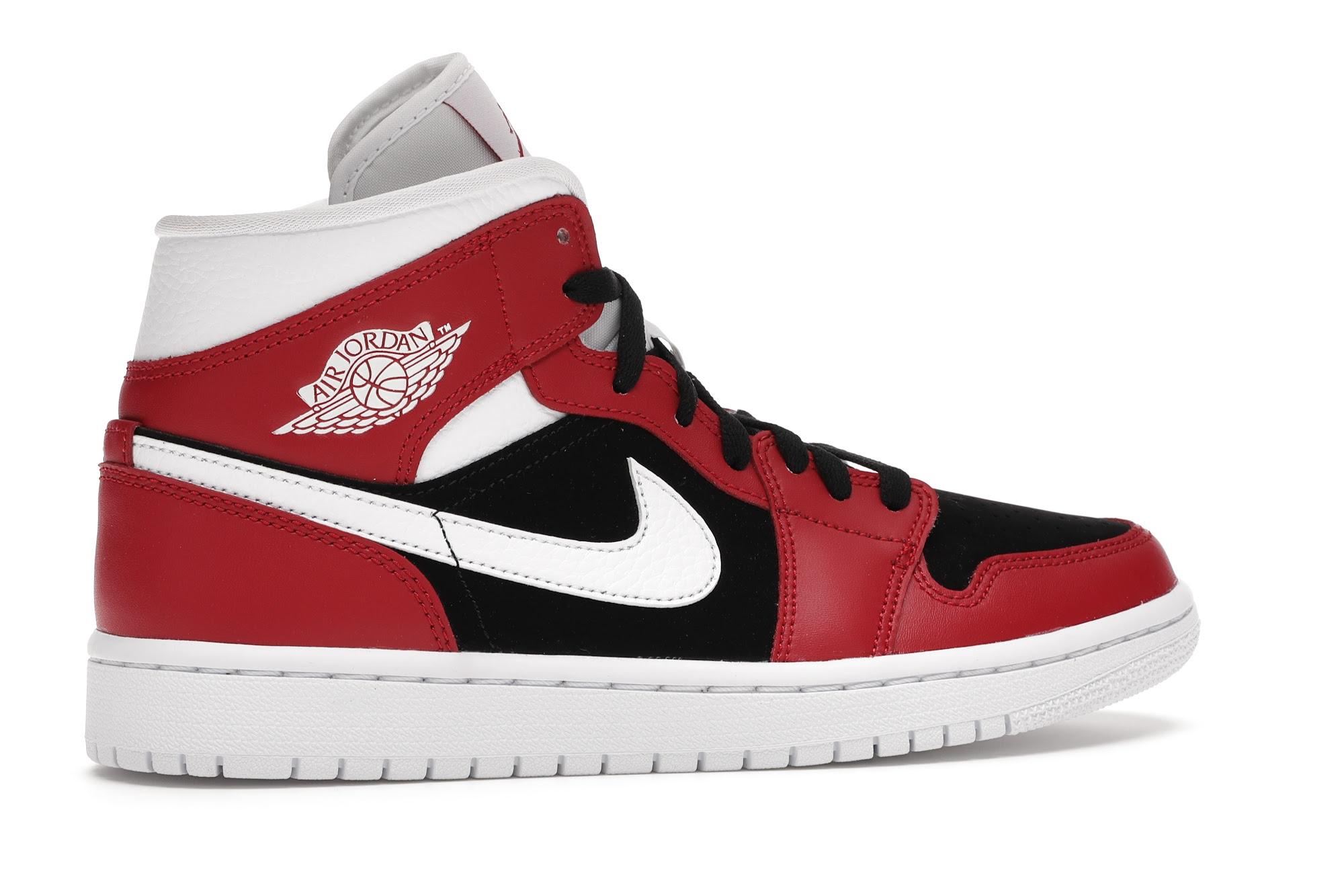 Jordan 1 Mid Gym Red Black (W)