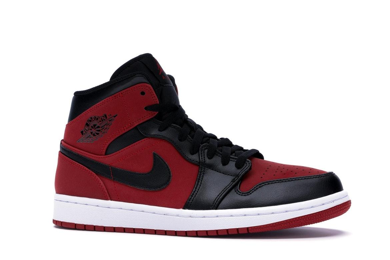 Jordan 1 Mid Gym Red Black - 554724-610
