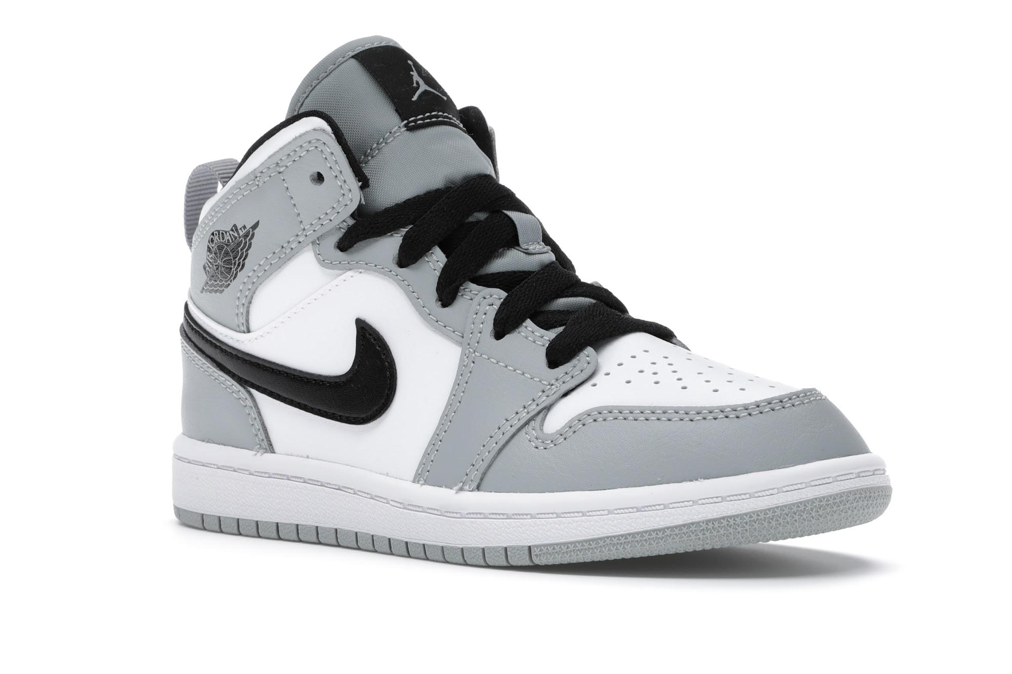 Jordan 1 Mid Light Smoke Grey (PS) - 640734-092