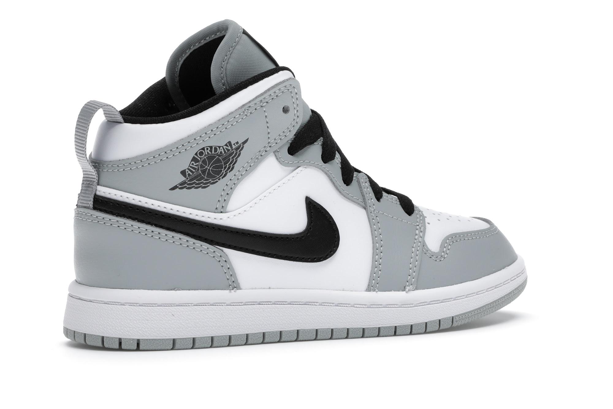 Jordan 1 Mid Light Smoke Grey (PS)
