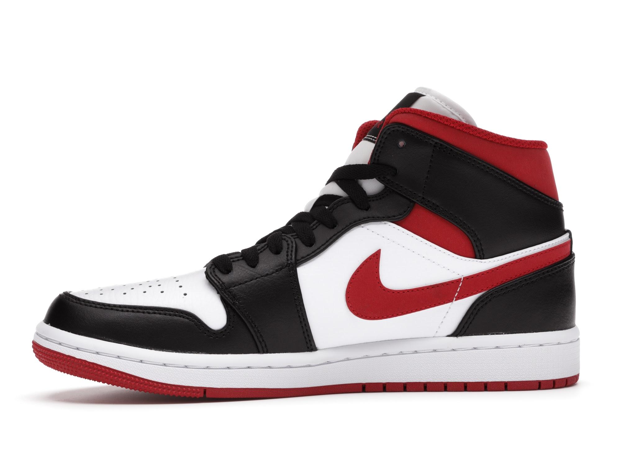 Jordan 1 Mid Gym Red Black White - 554724-122