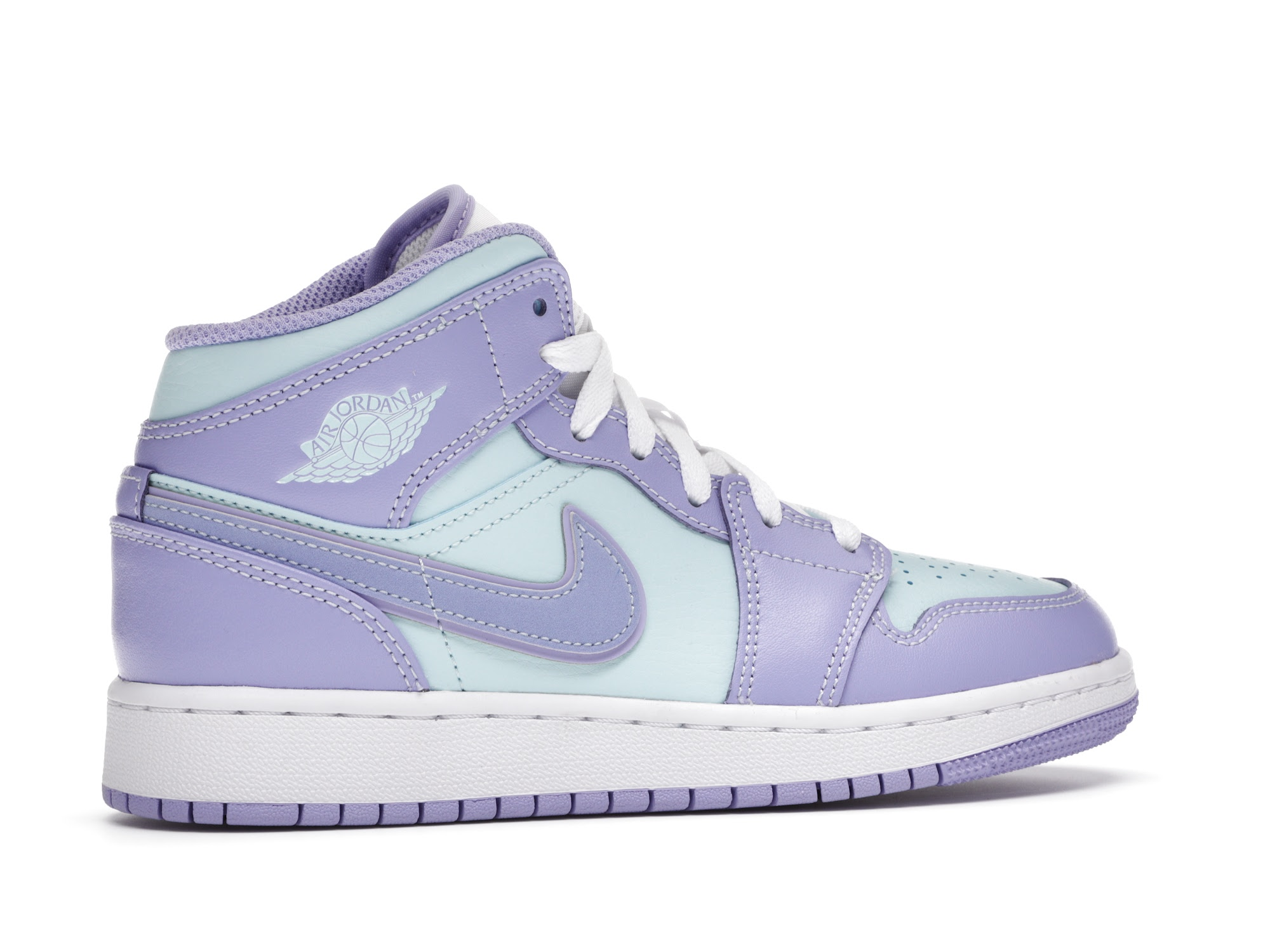 Jordan 1 Mid Purple Aqua (GS)