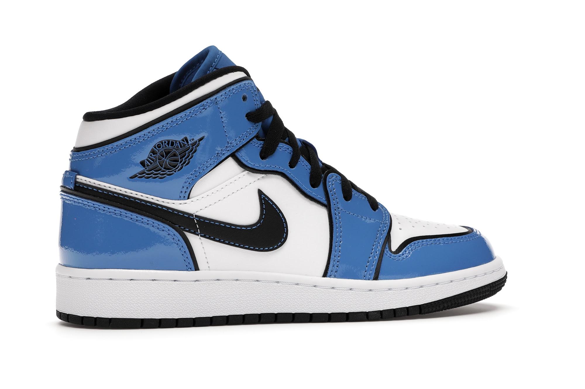 Jordan 1 Mid Signal Blue (GS) - BQ6931-402