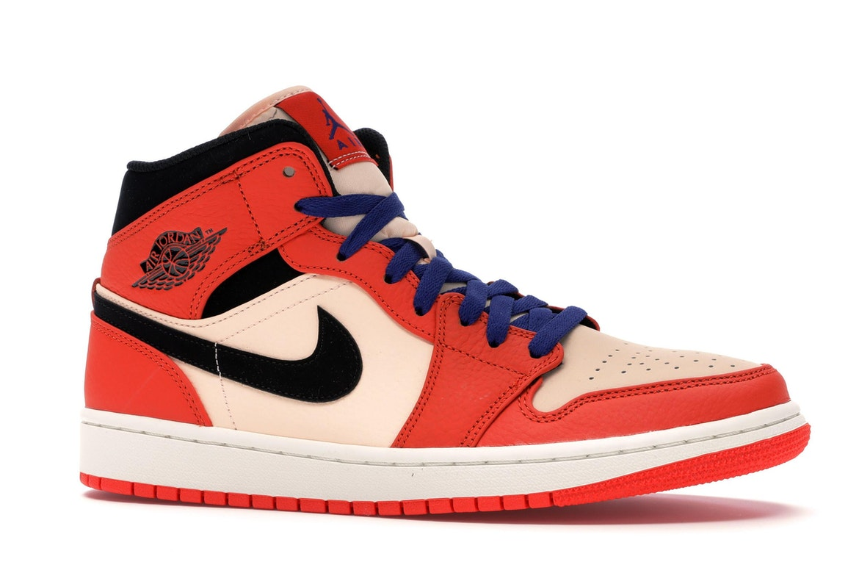 Jordan 1 Mid Team Orange Black - 852542-800