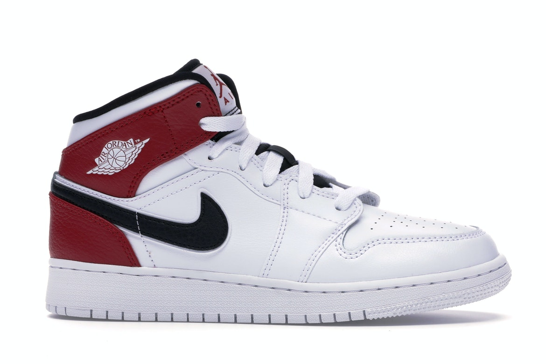 Jordan 1 Mid White Black Gym Red (GS)