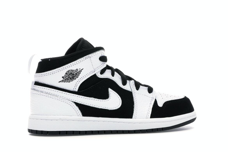 Jordan 1 Mid White Black (PS)