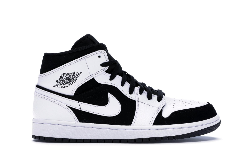 Jordan 1 Mid White Black