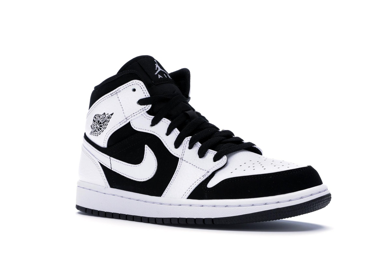 Jordan 1 Mid White Black - 554724-113