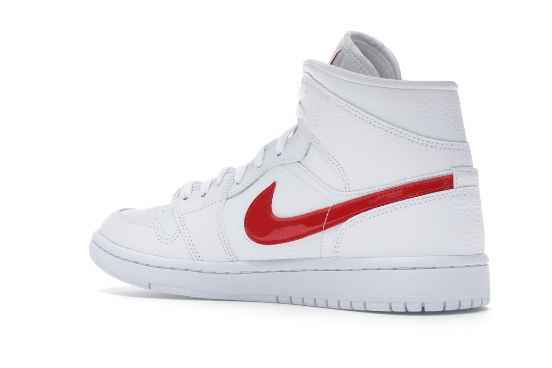 Jordan 1 Mid White University Red (W)