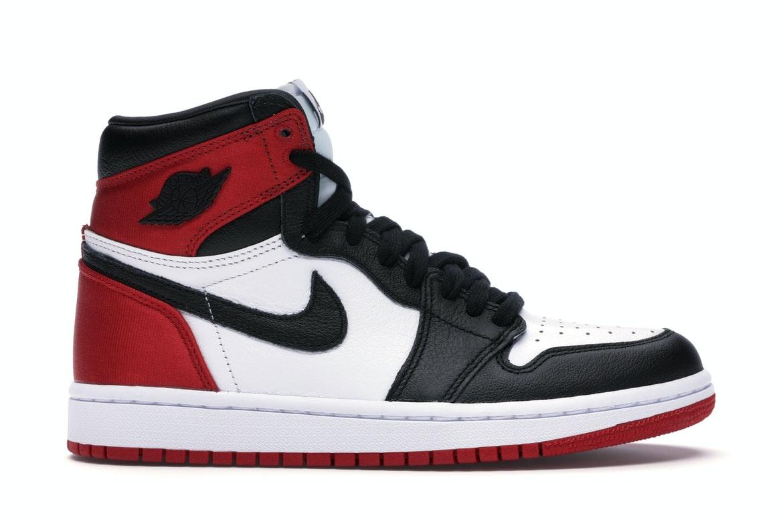 Jordan 1 Retro High Satin Black Toe (W)