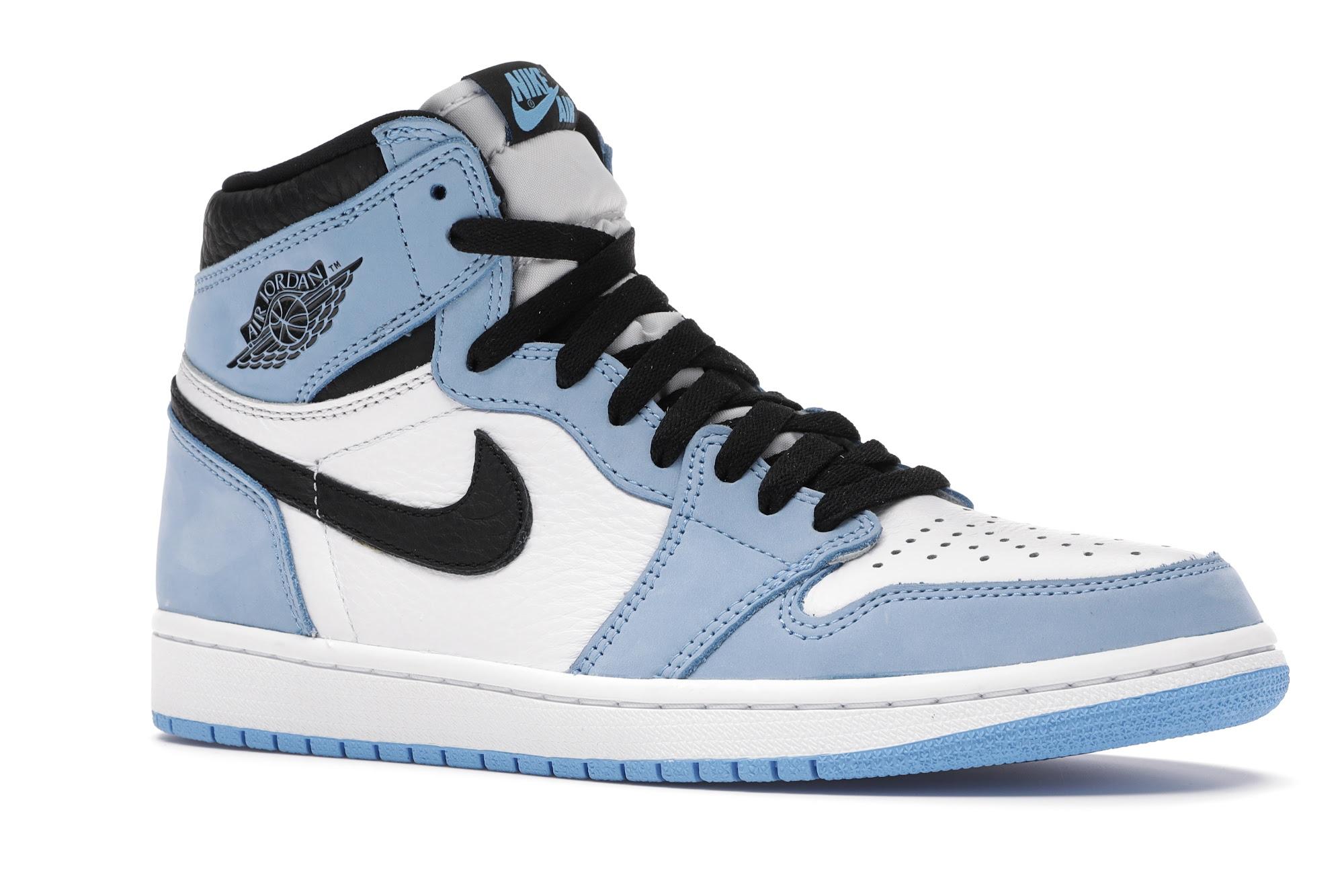 Jordan 1 Retro High White University Blue Black - 555088-134