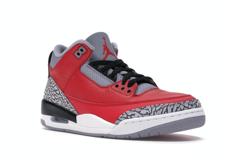 Jordan 3 Retro Fire Red Cement (Nike Chi) - CU2277-600