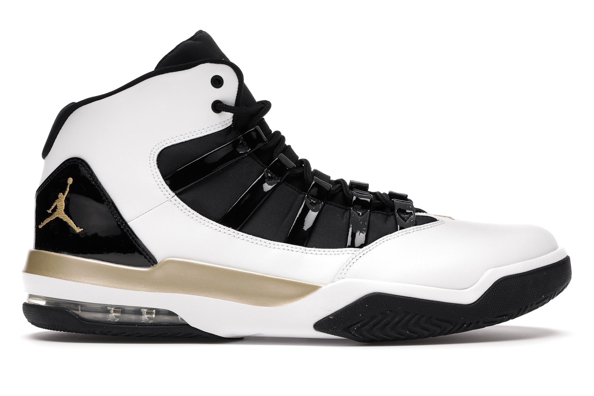 Jordan Max Aura White Metallic Gold Black - AQ9084-107
