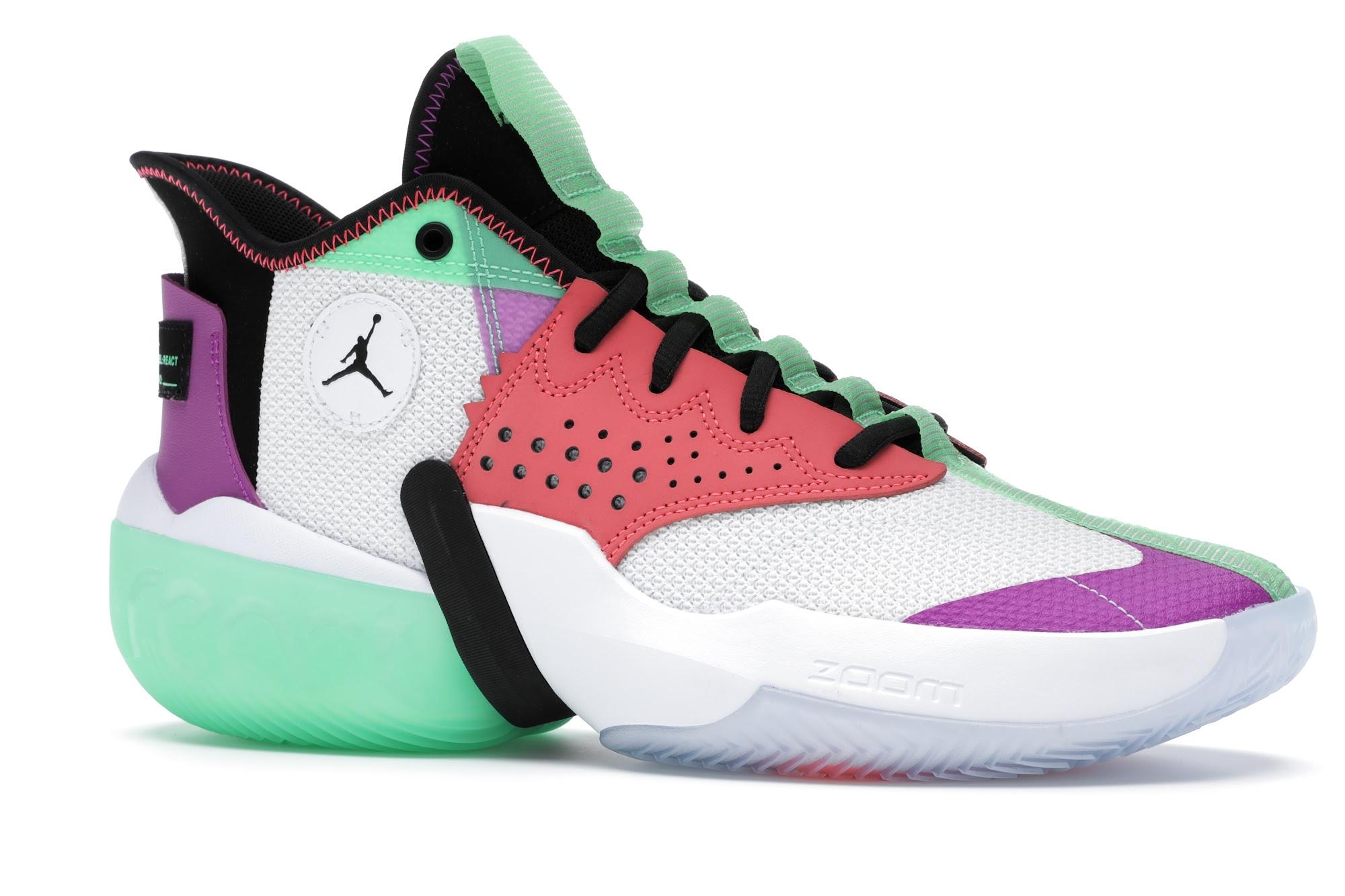Jordan React Elevation White Multi-Color