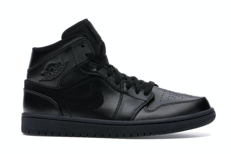 Air Jordan 1 Mid Black - 554724-090
