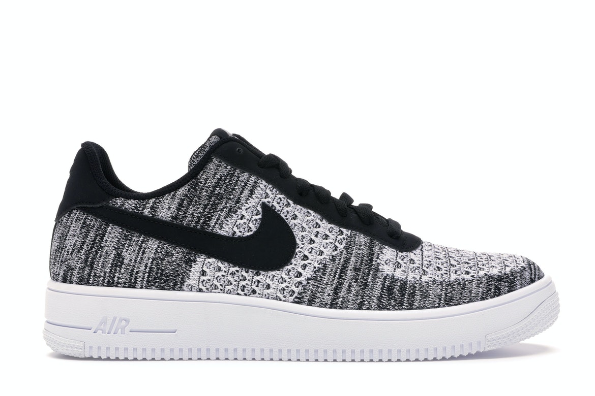 Nike Air Force 1 Flyknit 2 Black Pure Platinum