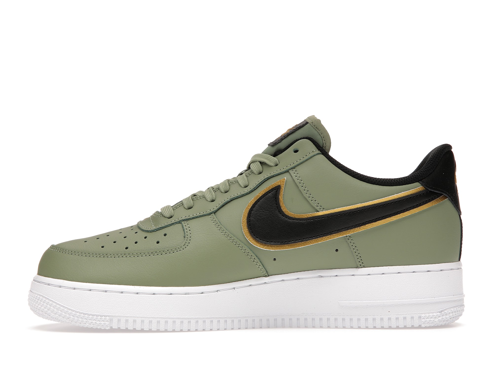 Nike Air Force 1 Low 07 LV8 Double Swoosh Olive Gold Black