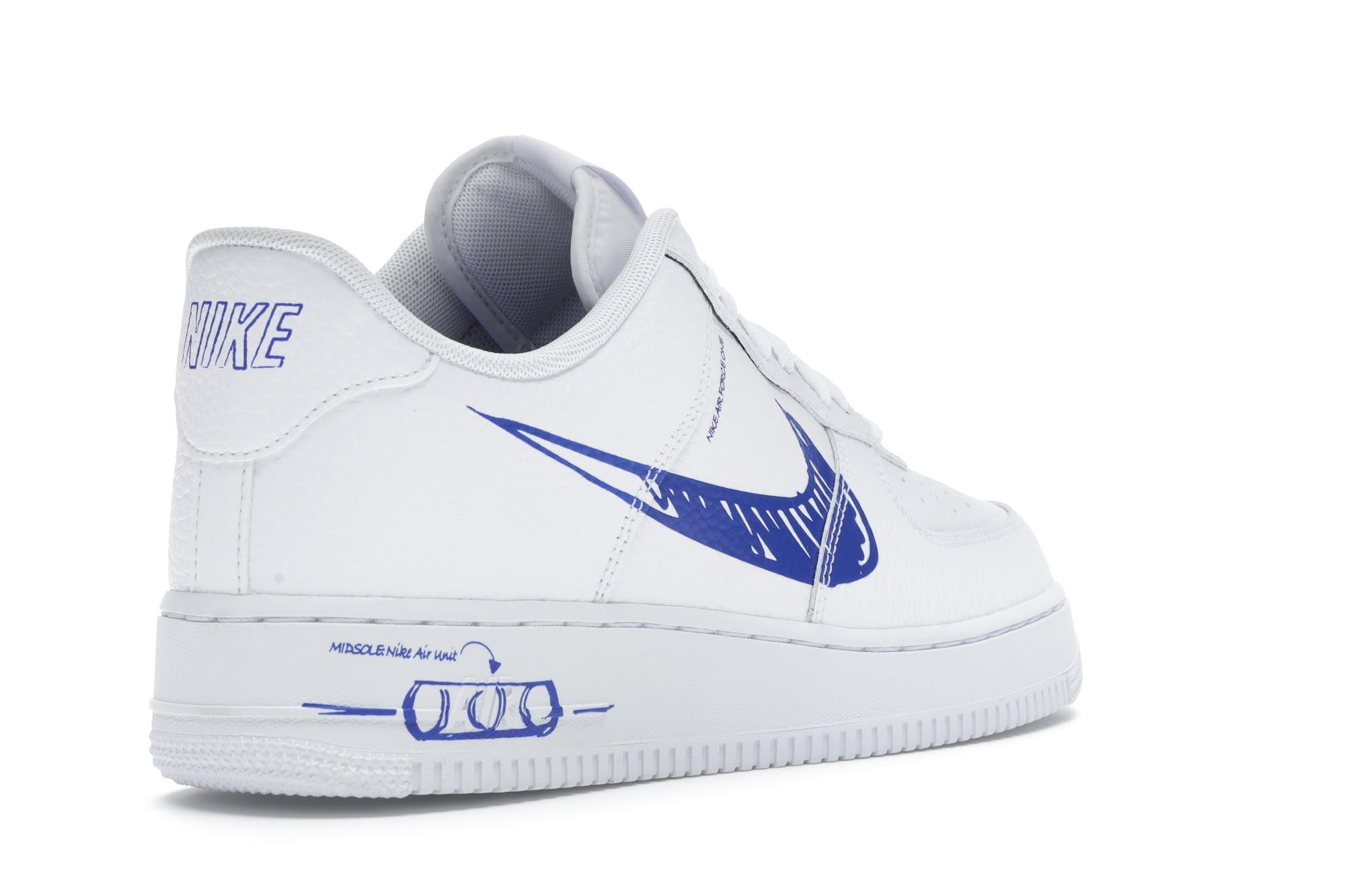 Nike Air Force 1 Low Sketch White Royal - CW7581-100
