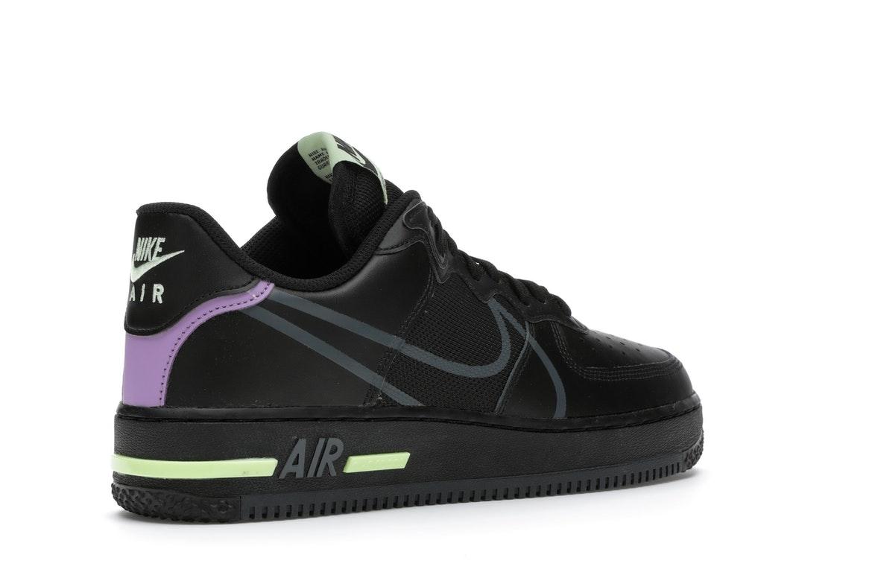 Nike Air Force 1 React Black Violet Star Barely Volt - CD4366-001