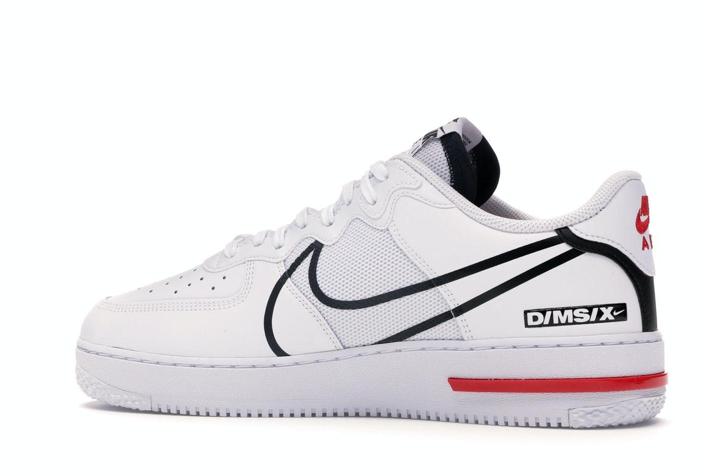 Nike Air Force 1 React White Black Red - CD4366-100