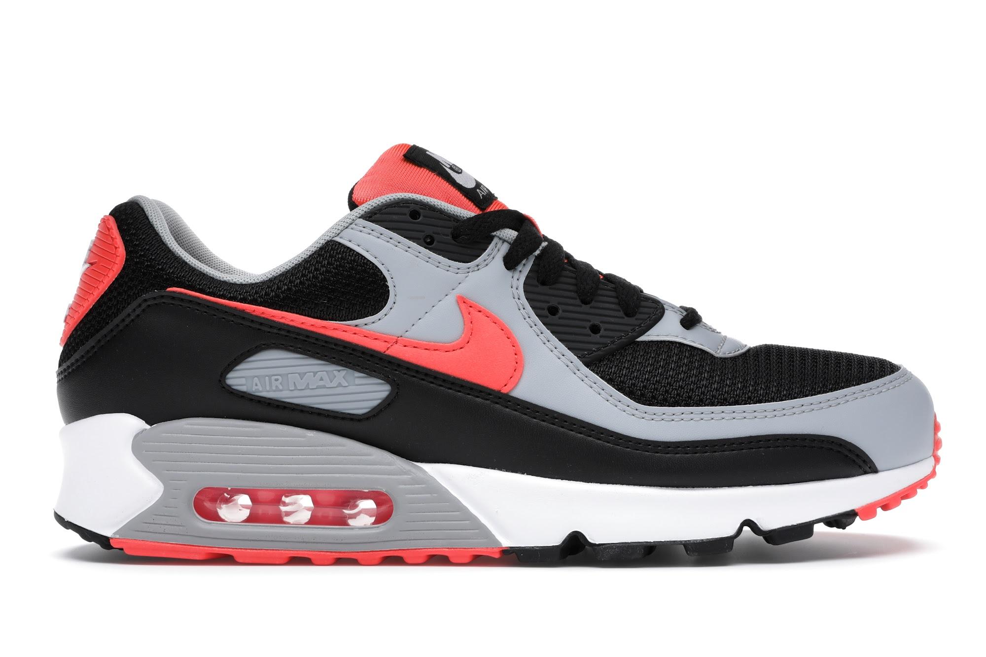 Nike Air Max 90 Black Radiant Red Wolf Grey
