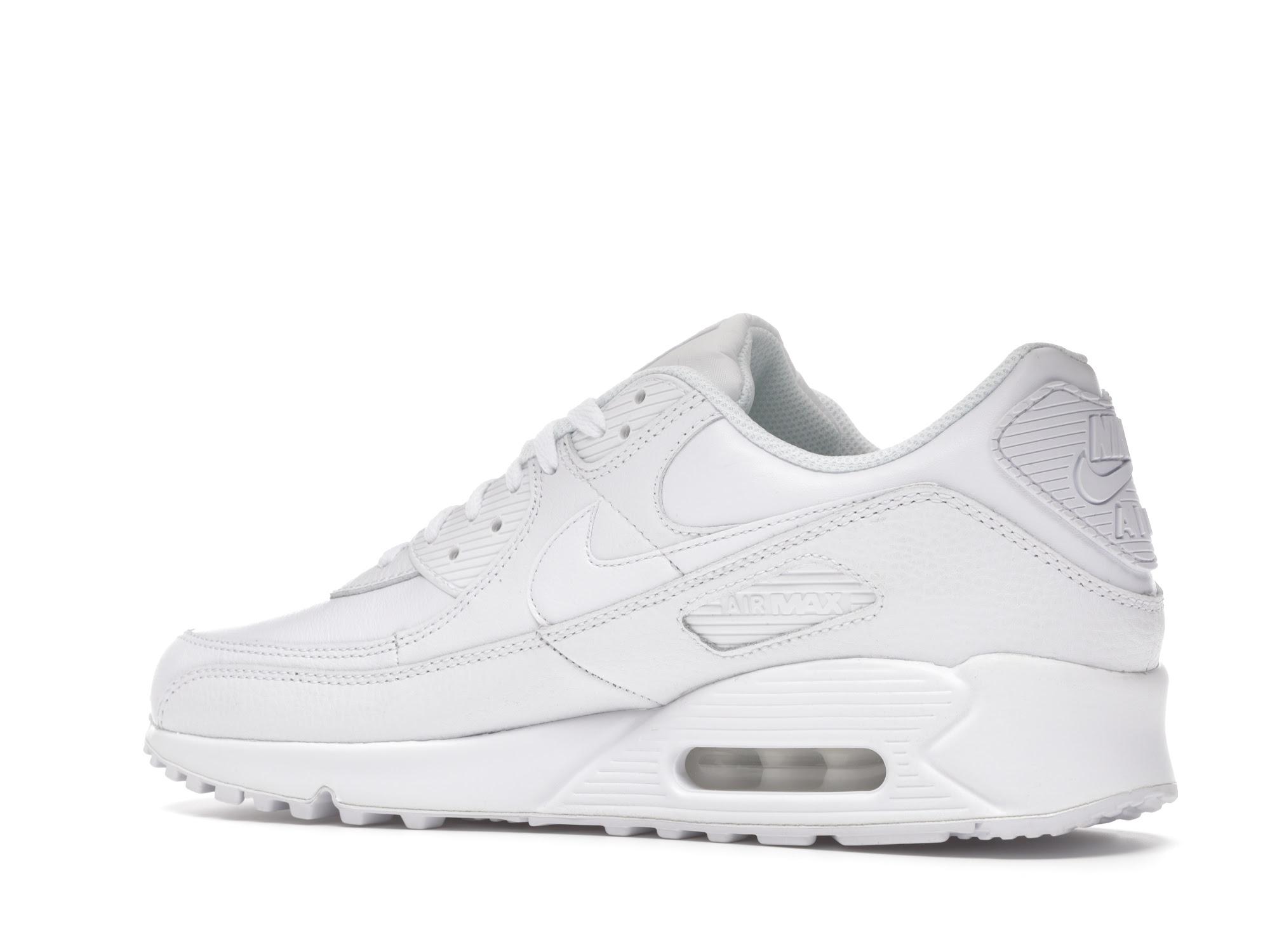 Nike Air Max 90 Leather Triple White (2020)
