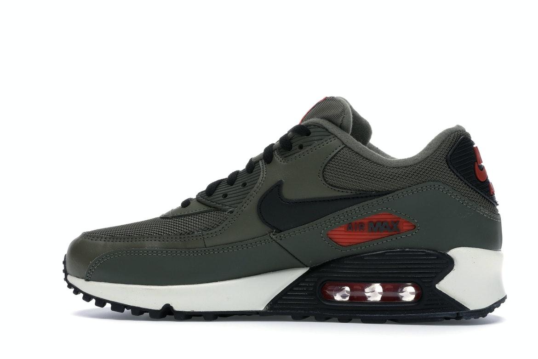 Nike Air Max 90 Medium Olive Black Team Orange - AJ1285-205