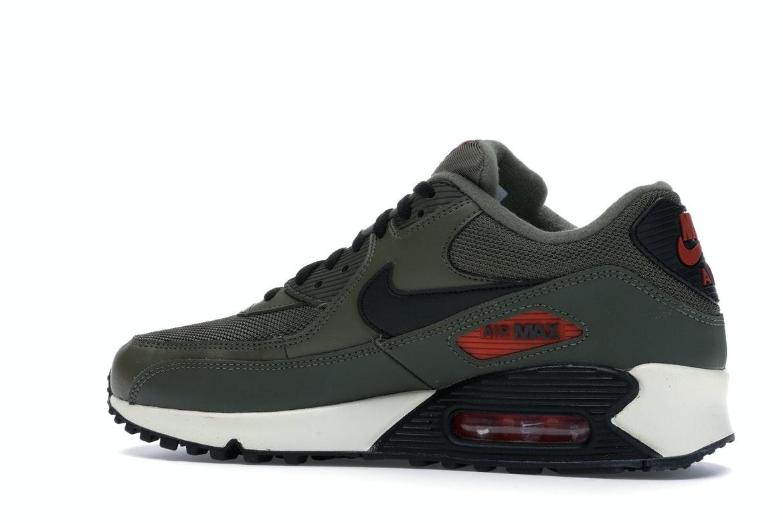 Nike Air Max 90 Medium Olive Black Team Orange