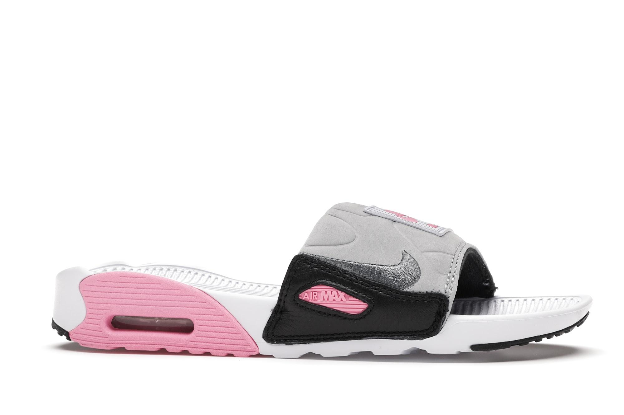 Nike Air Max 90 Slide White Rose Cool Grey (W)