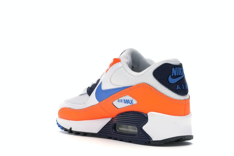 Nike Air Max 90 White Photo Blue Total Orange - AJ1285-104