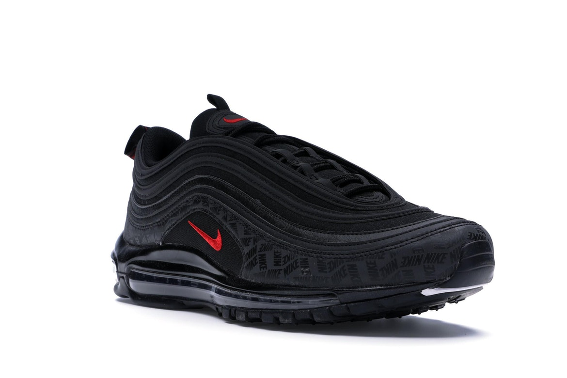 Nike Air Max 97 All-Over Print Black Red - AR4259-001