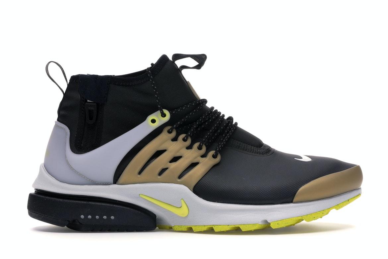 Nike Air Presto Mid Utility Black Yellow Streak - 859524-002