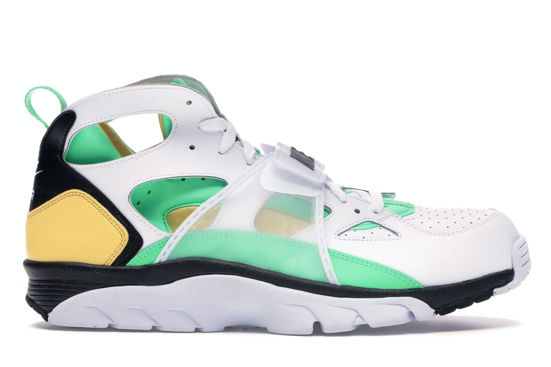 Nike Air Trainer Huarache White Topaz Gold Electro Green
