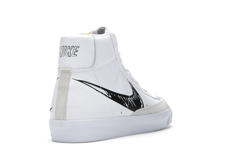 Nike Blazer Mid 77 Sketch White Black - CW7580-101