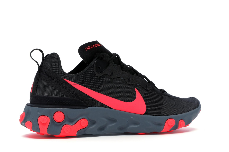 Nike React Element 55 Black Solar Red