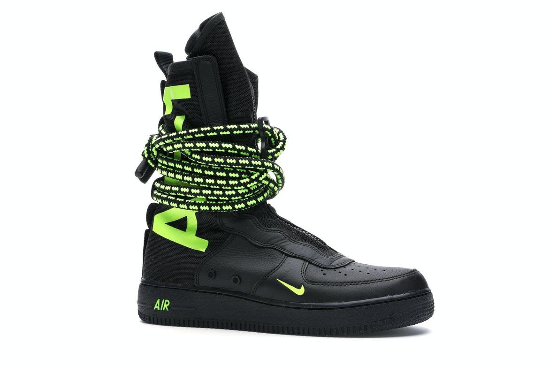 Nike SF Air Force 1 High Black Volt - AA1128-003