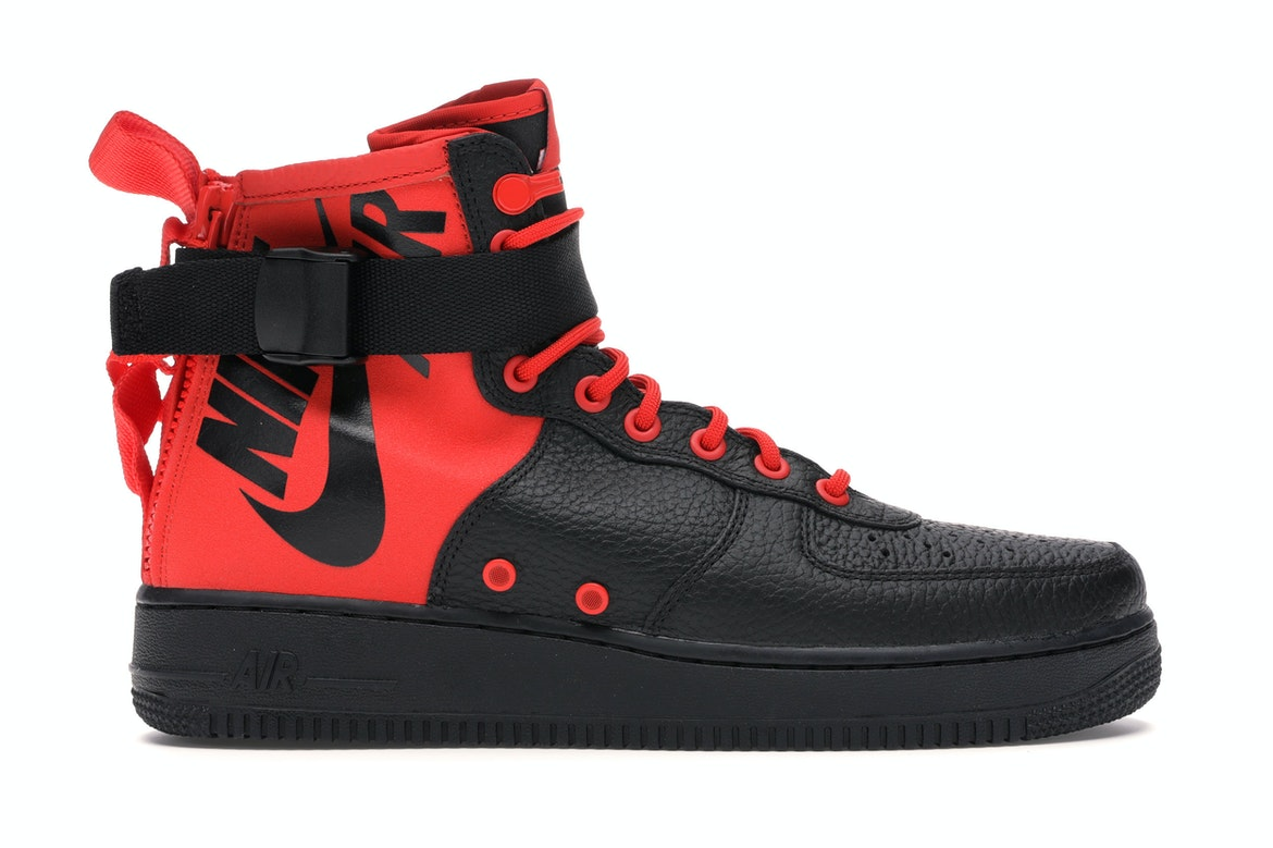 Nike SF Air Force 1 Mid Habanero Red Black - 917753-601