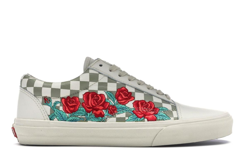 Vans Old Skool Rose Embroidery (White)