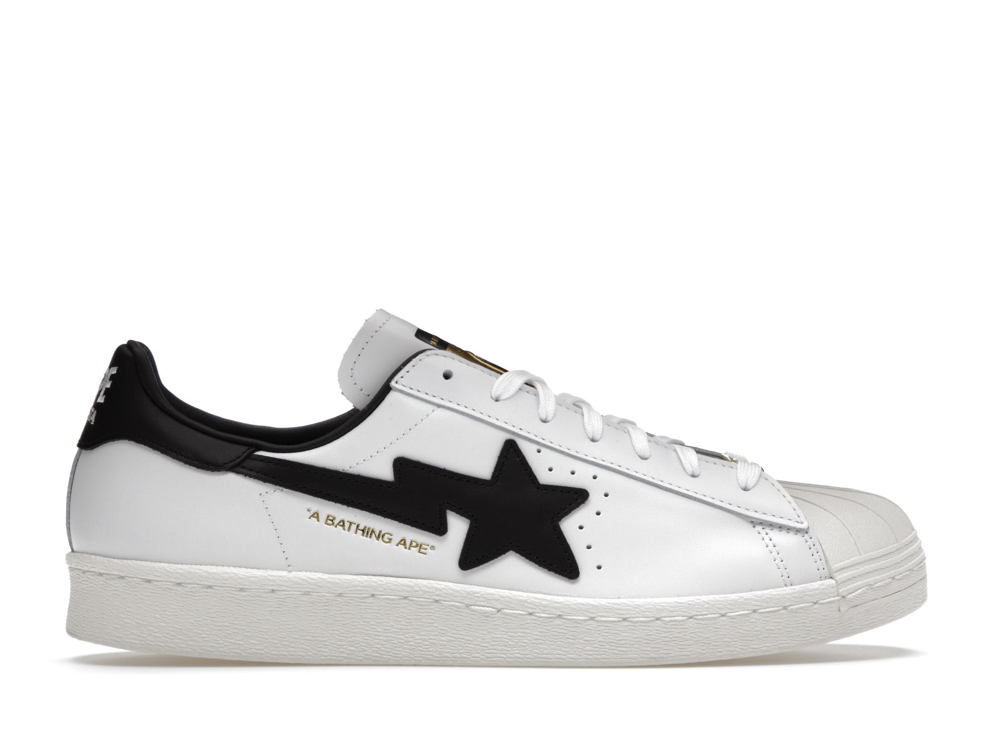 adidas Superstar 80s Bape White Black