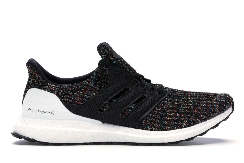 adidas Ultra Boost 4.0 Black Multi-Color White Heel Cage