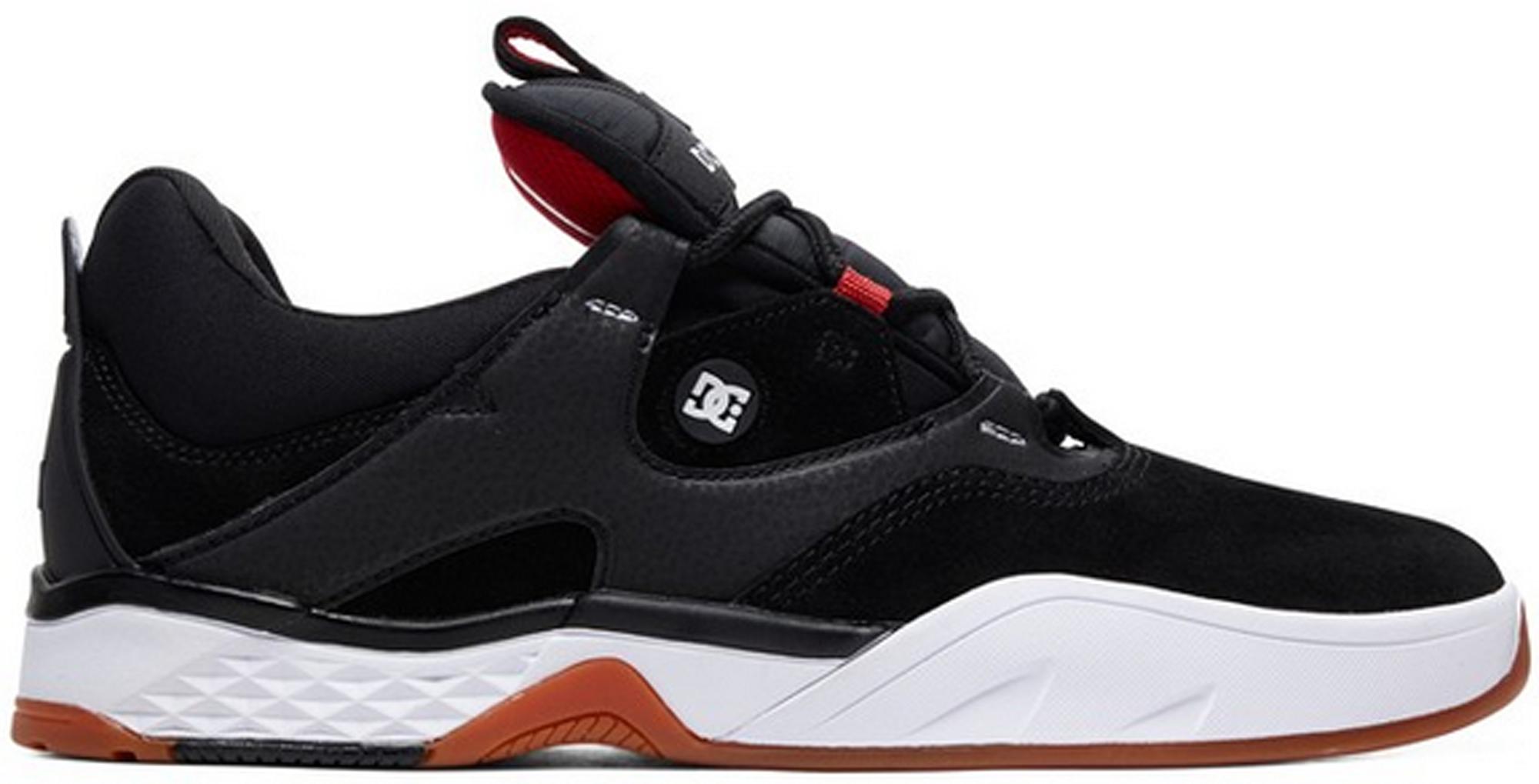 DC Mens Kalis S Shoes,10D,Black//White//Red