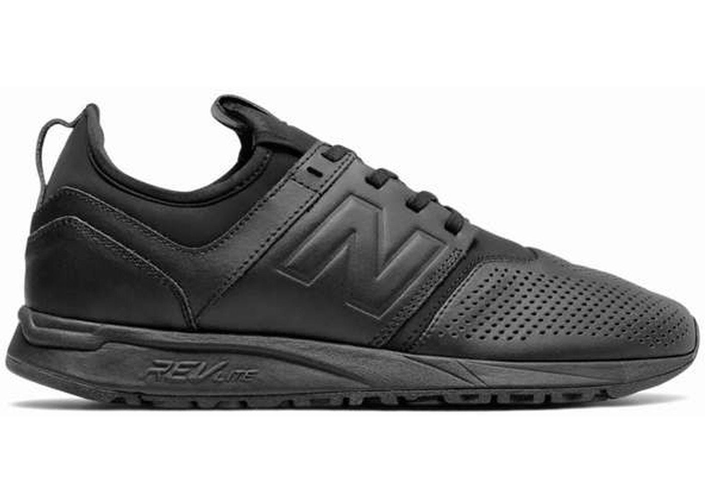 New Balance 247 Black Leather - MRL247LK