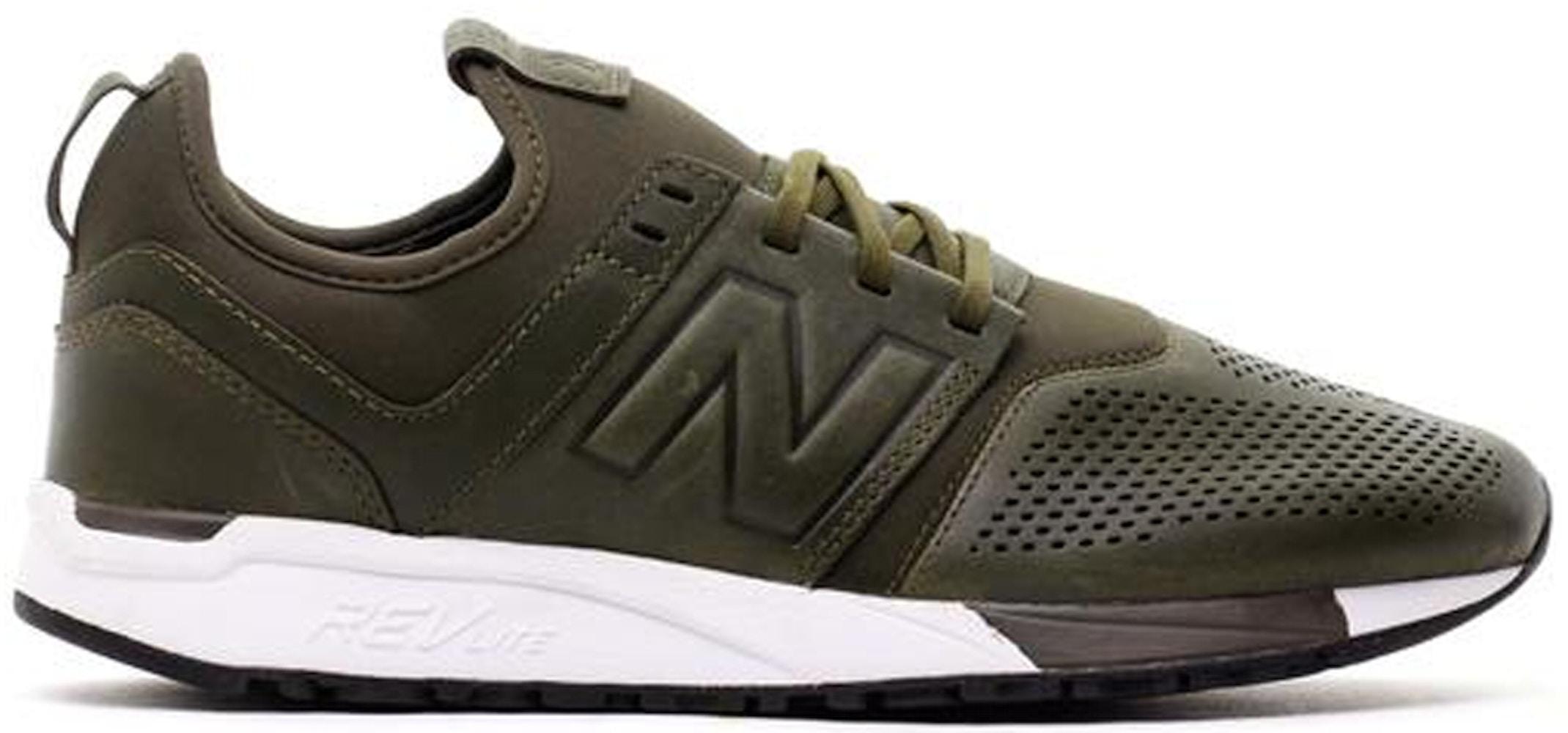 New Balance 247 Leather Olive
