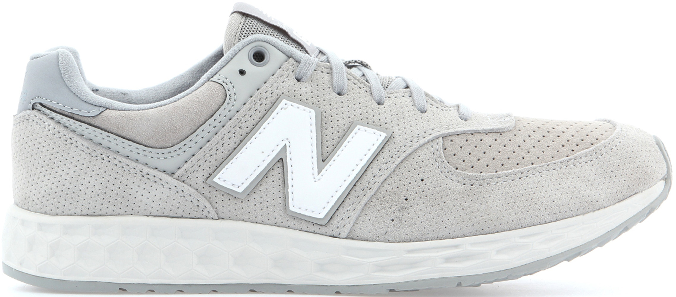 New Balance 574 Fresh Foam Grey White - MFL574FD