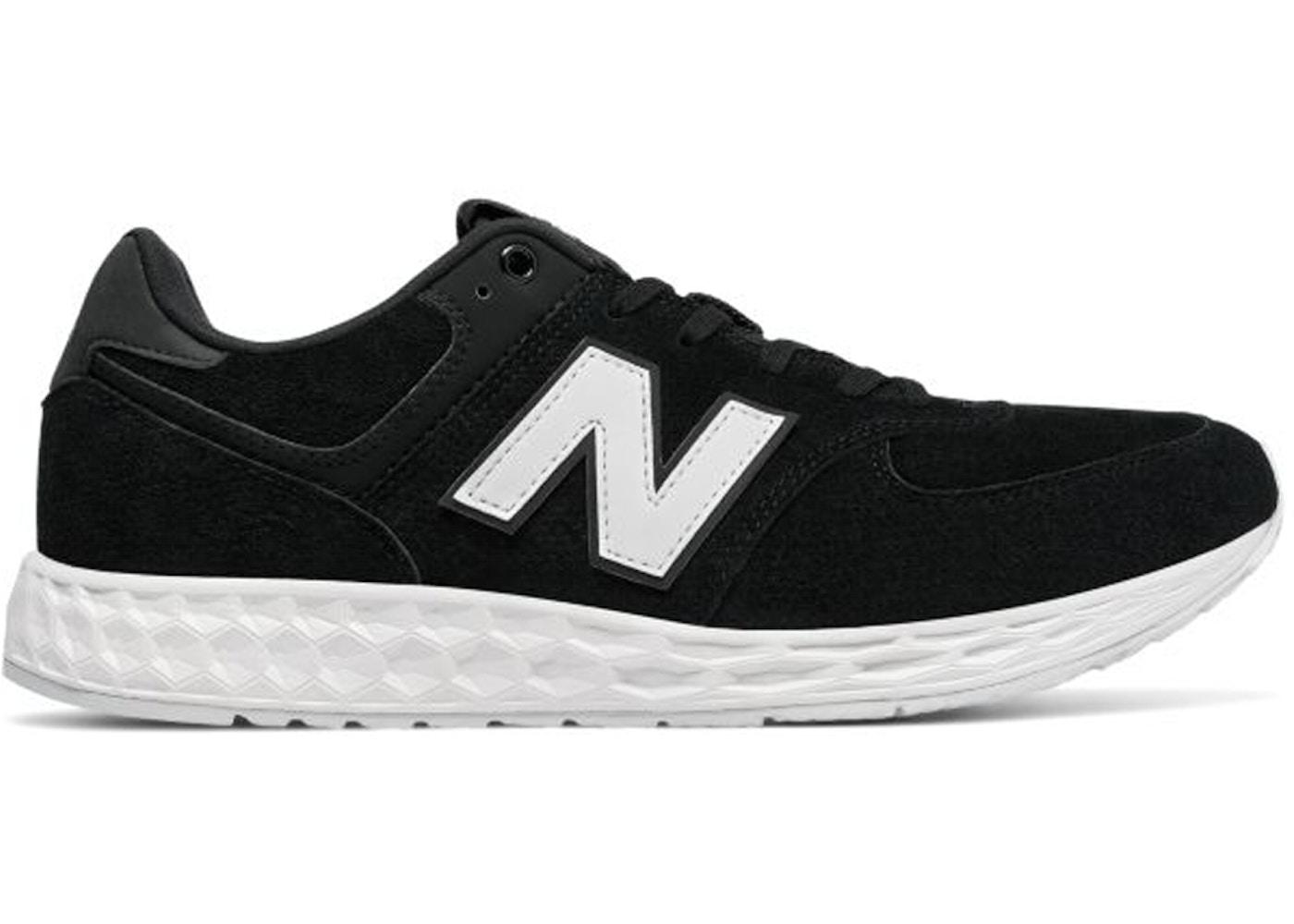 New Balance 574 Fresh Foam Suede Black White