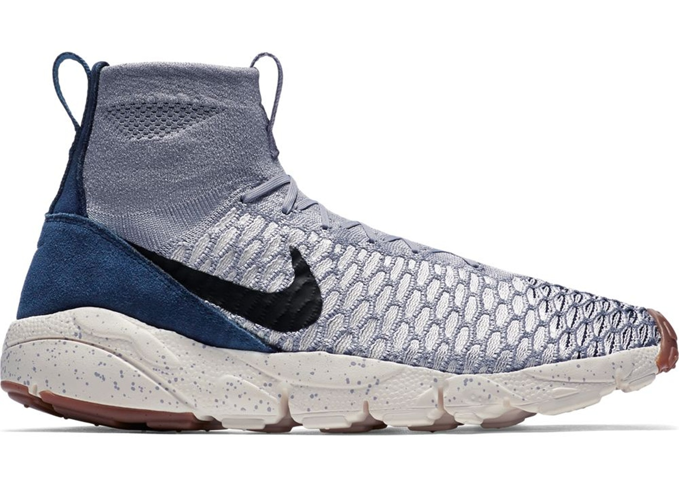 barba Rubí compresión  Nike Air Footscape Magista Flyknit Wolf Grey Dark Obsidian - 816560-001